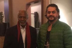 Baloch nationalist leader Mehran Marri seen with former UN secretary general Kofi Annan in a photo posted on his Twitter account.
