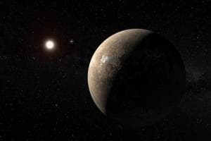 """An artist's impression of the Proxima b, another possible """"Earth twin"""", located over four light years away."""