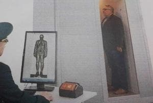 Developed by a Russian company in a joint venture with a Gujarat-based manufacturer, the body scanner has been tweaked as per Indian standards and security personnel found it more helpful than the previous two iterations that have been tested at Delhi airport earlier.