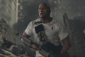 Rampage trailer: Dwayne Johnson takes on giant monsters, because...