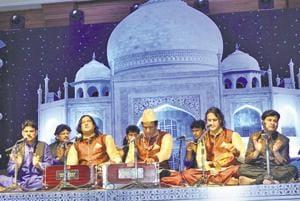 The Nizami Bandhu (above) shot to fame with the song Kun Faya Kun.