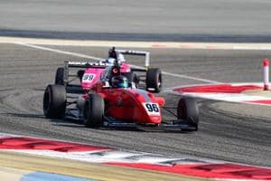 Felipe Drugovich benefitted from race leader Rinus van Kalmthout's retirement to win at the MRF Challenge 2017.