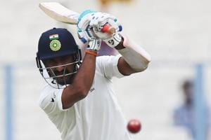 Cheteshwar Pujara soldiers on as Indian batsmen falter against Sri...