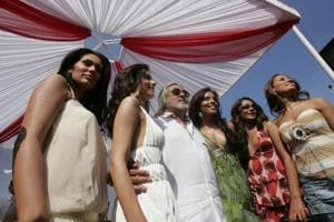 Launch of the Kingfisher 2007 calendar aboard the Indian Empress owned by Vijay Mallya.
