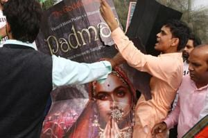 Padmavati row: Protesters block entry to Chhittorgarh Fort in...