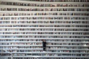 Photos: China's futuristic Binhai library is less books, more...