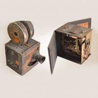 Movie cameras used by Hiralal Sen, the first Indian to make films.