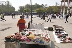 Street vendors at the plaza in Sector 17, Chandigarh, who are now being blamed for all that's wrong here.