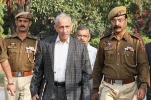 Former Intelligence Bureau chief Dineshwar Sharma (centre) was appointed the Centre's special representative to Jammu and Kashmir last month.