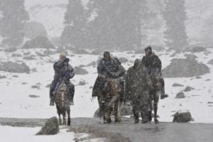 Rain, snow bring chill back to north India