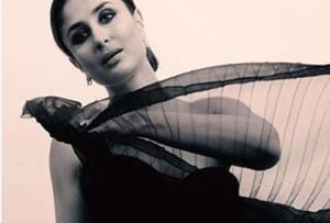 Black's her colour: Kareena Kapoor is looking more beautiful than ever...