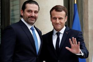 Macron welcomes Lebanon PM Hariri in France