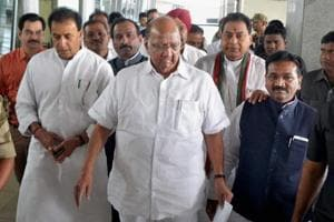 Nationalist Congress Party (NCP) President Sharad Pawar  wants to tie up with the Congress for the 2019 elections.