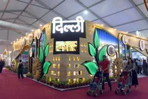 Delhi pavilion at the ongoing trade fair in Pragati Maidan.