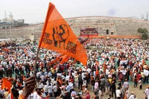 File photo of a protest  organised by the Maratha Kranti Morcha in December 2016 in Nagpur to demand justice the Kopardi rape victim.