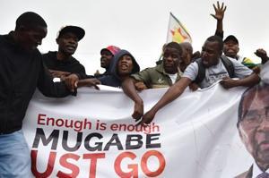'Mugabe must go': Protesters demand Zimbabwe President's resignation...