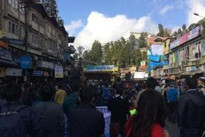 The first public meeting of the Tamang faction of the GJMdrew around 5000 people in the heart of Darjeeling on Sunday.