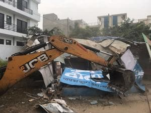 Gurgaon: MCG, HUDA demolish 50 shanties at Jharsa, recover 4 acres of...