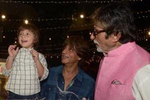 Shah Rukh Khan's son AbRam's expression at getting candyfloss at...