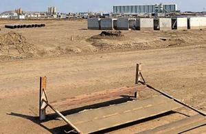 Construction work for basic infrastructure proceeds in the activation zone in Dholera. This is supposed to be completed by 2019.