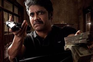 Nagarjuna shares stills from his film with Ram Gopal Varma, a cop...