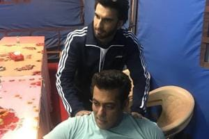 Ranveer Singh massages tired Salman Khan's shoulders in pic from Race...