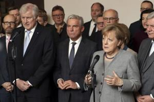 German Chancellor Merkel's fourth term in doubt as coalition talks...