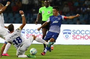 Bengaluru FC fans turned up in record numbers to witness the...