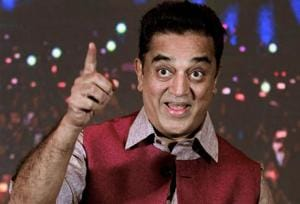 Tamil actor Kamal Haasan at a press conference to announce the launch of an app in Chennai on November 7.