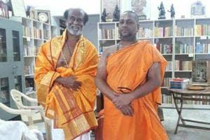 Rajinikanth visits Mantralayam Temple in Andhra Pradesh. See pics
