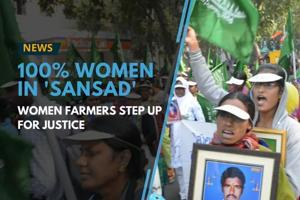 Thousands of farmers belonging to 150 different farm organizations...