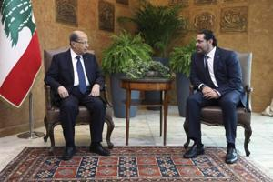 Lebanon's Hariri says he offered resignation but President Aoun has...