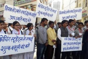 Students in Rajasthan's Kota protest new sanitation tax