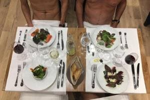 Would you have dinner in the buff? Paris gets its first nudist...