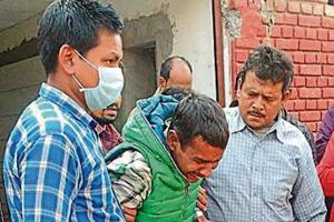 Family members of Bahadur (top) in an inconsolable state. He was among the 13 who died in the tragedy.