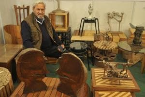 Artist's exhibits not for sale, but to inspire people at Chandigarh's...