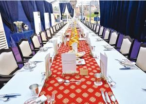 The  Dine With Royalty event was held at the Belgian embassy in Delhi