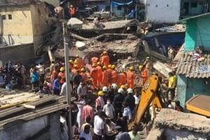 Eight people are feared trapped in Tahir Bijnori building, located at Navi Basti in Bhiwandi, which collapsed on Friday morning.