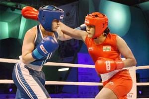 Ankushita Boro (Red) was one of three Indians to enter the finals in their respective weight categories in the ongoing AIBA World Youth Boxing Championships