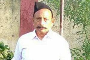 File photo of murdered RSS leader Ravinder Gosain