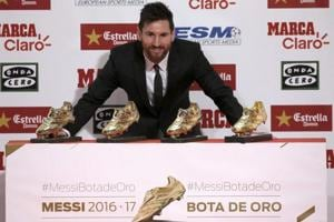 FC Barcelona's Lionel Messi wins fourth European Golden Shoe
