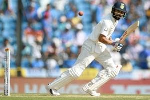 Virat Kohli plays a shot on the third day of the second Test cricket match between India and Sri Lanka. The skipper might be rested for the final Test at New Delhi.