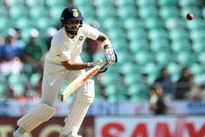 Virat Kohli in action on Day 3 of the second Test match between India and Sri Lanka at the Vidarbha Cricket Association Stadium in Nagpur.
