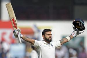 Virat Kohli slammed his fifth double century and matched the feats of Rahul Dravid and Brian Lara as India were on top against Sri Lanka in the Nagpur Test.
