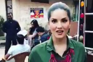 Sunny Leone takes revenge on man who threw a snake on her. Watch video