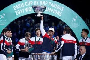 Lucas Pouille was the hero as he dominated Steve Darcis to help France...