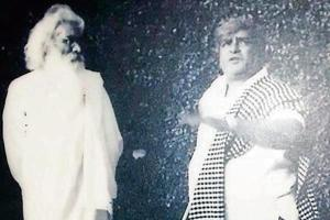 Painter-sculptor Sobha Singh and legendary actor Prithviraj Kapoor in an undated photo.