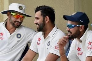 Rohit Sharma and Murali Vijay (centre and right) performed well during the India vs Sri Lanka Test cricket series.