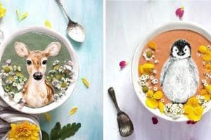 Breakfast art:This woman paints cute animals and pop culture icons on...