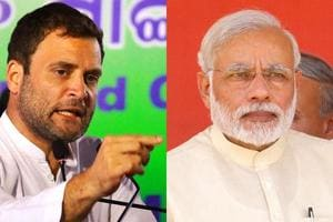 A combination photos of Congress vice president Rahul Gandhi and Prime Minister Narendra Modi.